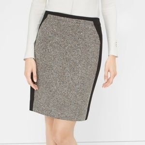 White House Black Market Grey tweed pencil skirt